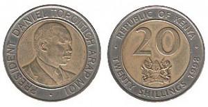 монета кении 20 шиллингов