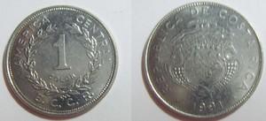 монета коста-рика 1 колон
