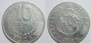 монета коста-рика 10 колонов