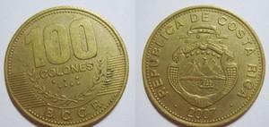 монета коста-рика 100 колонов