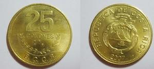 монета коста-рика 25 колонов
