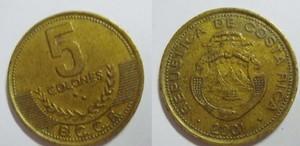 монета коста-рика 5 колонов