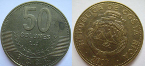 монета коста-рика 50 колонов