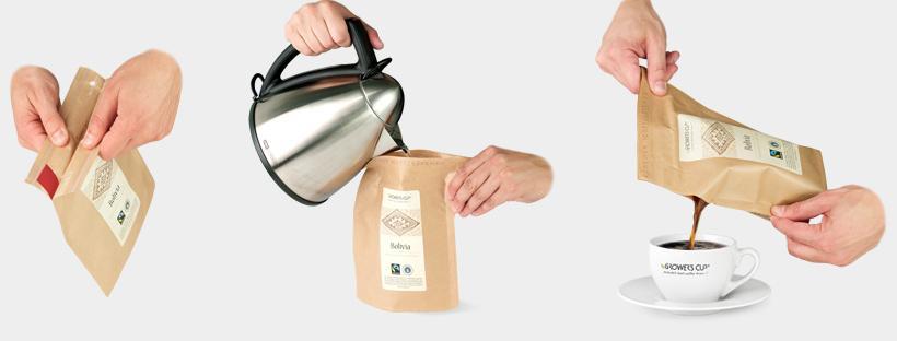 необычный пакет для кофе