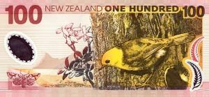 новозеландский доллар 100р