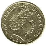 новозеландский доллар 1p