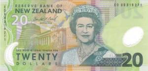 новозеландский доллар 20а