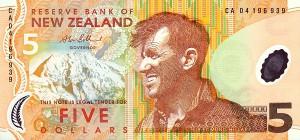 новозеландский доллар 5а