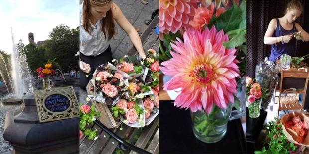 Цветочный магазин на колесах