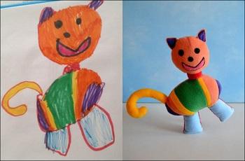 разработка плюшевых игрушек по рисункам детей