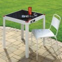 Стол для дворика с солнечной батареей