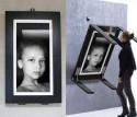 Необычный стол-рамка для фотографий