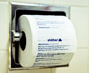 туалетной бумаги с твиттами