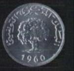 тунисские миллимы 1р