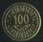 тунисские миллимы 100а