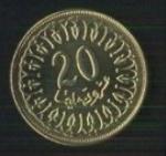 тунисские миллимы 20а