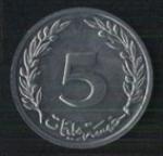 тунисские миллимы 5а