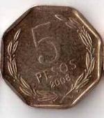 чилийское песо 5a