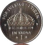 шведская крона 1p