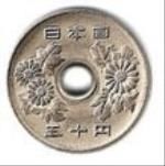 японская иена 5-p