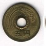 японская иена 5p