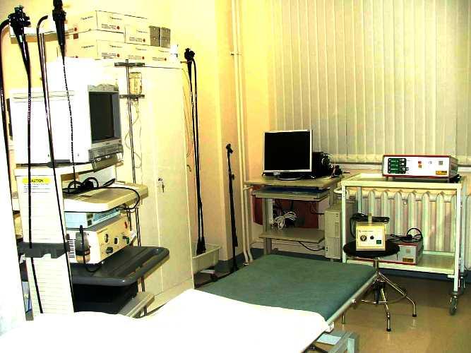 Вид обычного медицинского кабинета.