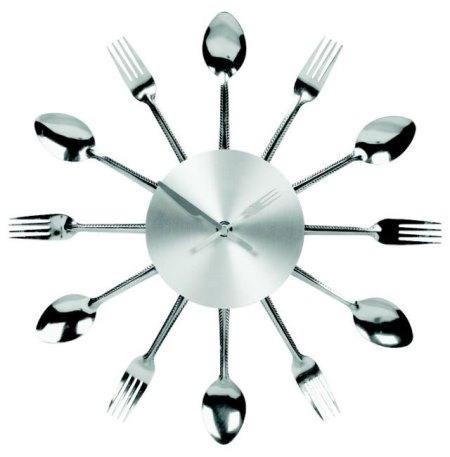 Часы на кухню в виде ложек и вилок