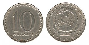 10 кванз монета анголы