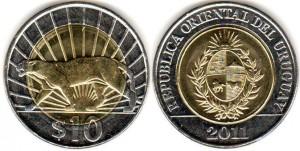 10 песо уругв