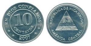 10 сентаво никарагуа