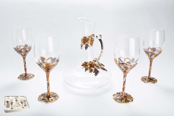 Набор Виноград декантер винный и 4 бокала