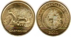 2 песо уругв