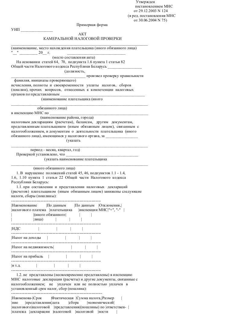 Акт камеральной налоговой проверки_001