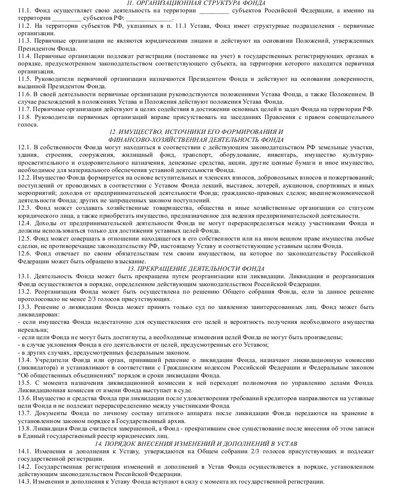 Образец устава общероссийского общественного фонда содействия развитию_004