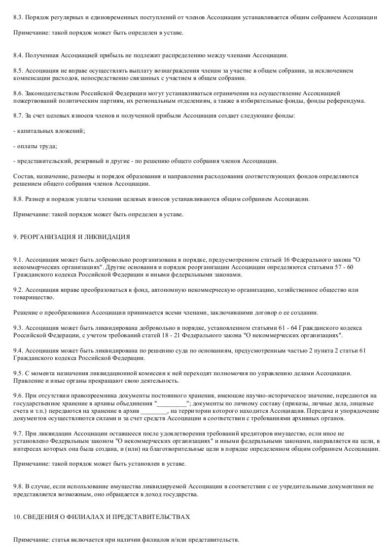 Образец устава ассоциации владельцев таможенных складов_009
