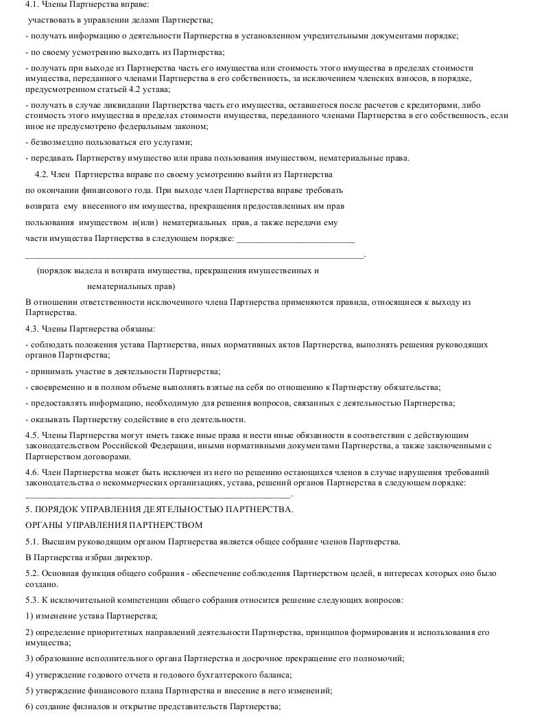 Образец устава некоммерческого партнерства в формате.doc_003