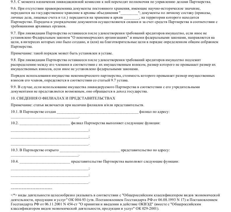 Образец устава некоммерческого партнерства в формате.doc_009