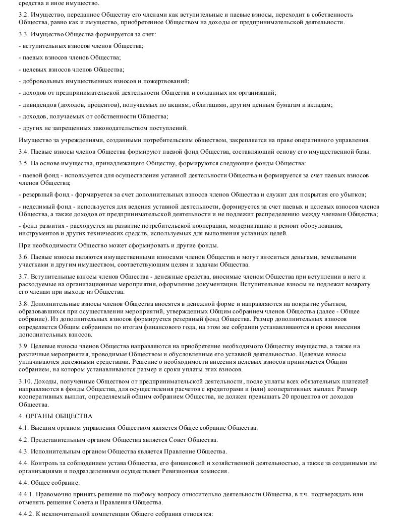 Образец устава потребительского общества в формате.doc_002