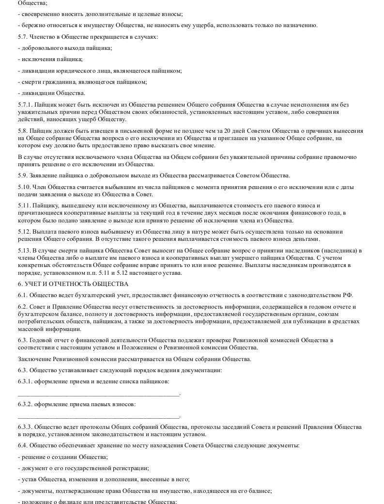 Образец устава потребительского общества в формате.doc_007