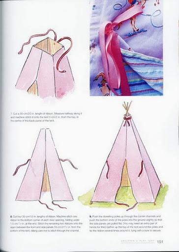 Детский вигвам своими руками, как сделать свой вигвам для ребенка мастер-класс, как шить вигвам