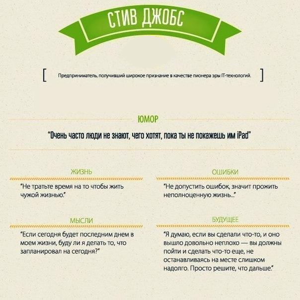 Мотивирующие бизнес-цитаты. Стив Джобс