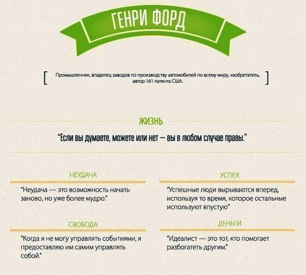 Мотивирующие бизнес цитаты. Генри Форд