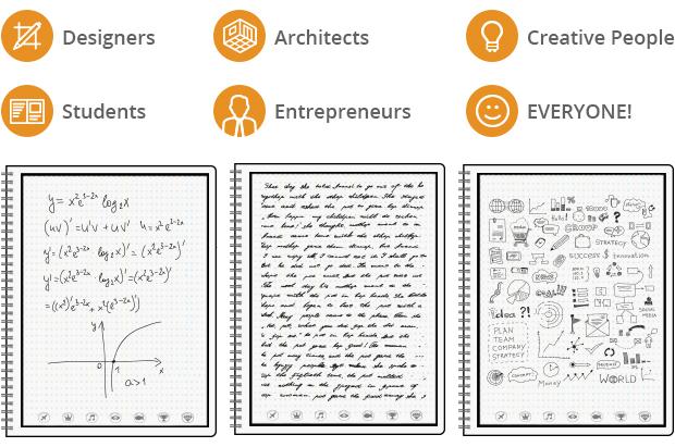 """Блокнот будущего, который можно """"почистить"""" в микроволновке подойдет для дизайнеров, архитекторов, творческих людей, студентов, бизнесменов, да и общем-то, для всех!"""