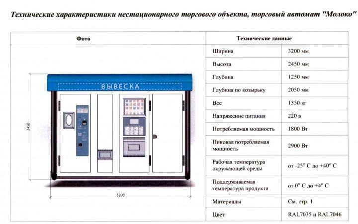 Автомат для продажи свежего охлажденного молока