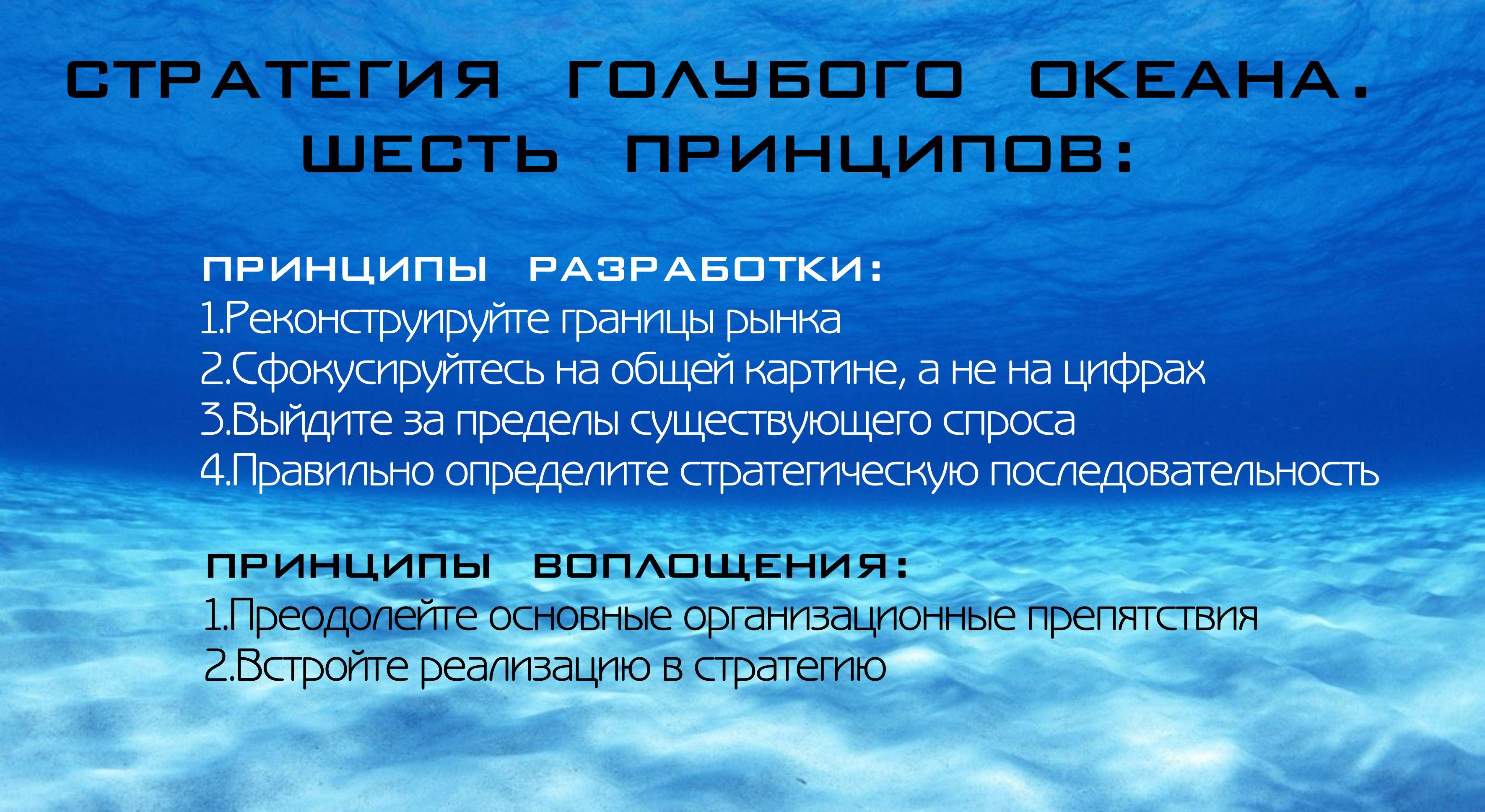 Основные принципы стратегии голубых океанов
