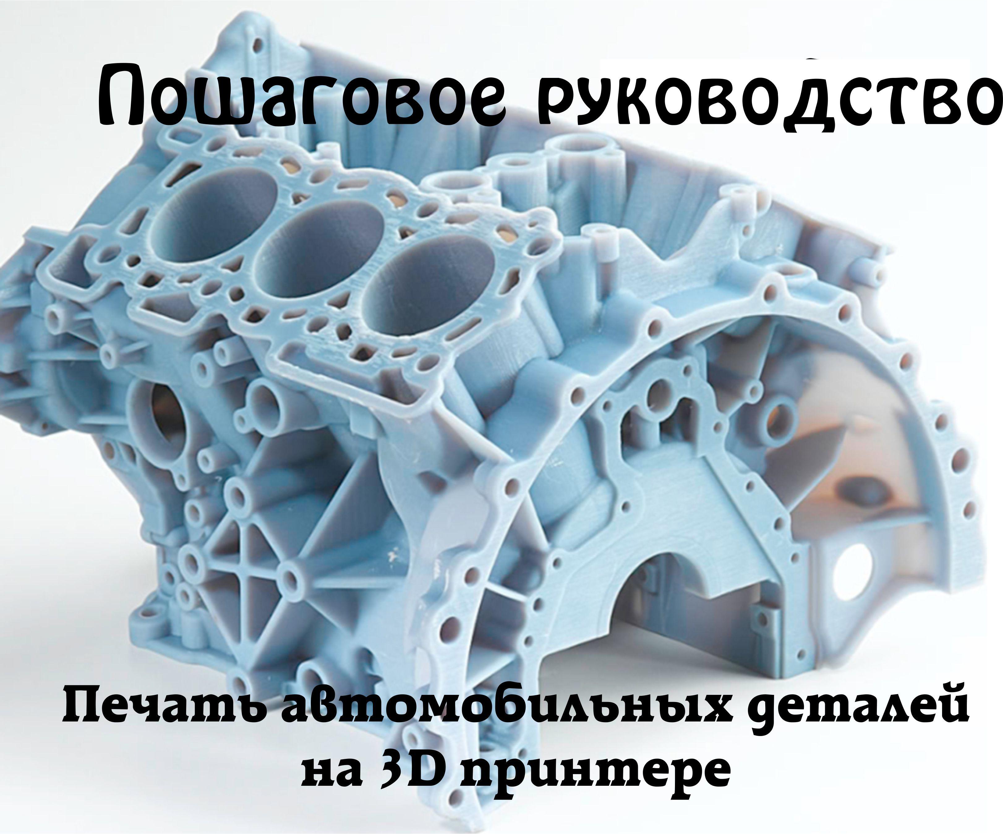 Как открыть печать автозапчастей на 3D принтере
