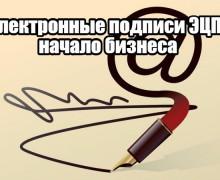 Электронные подписи ЭЦП