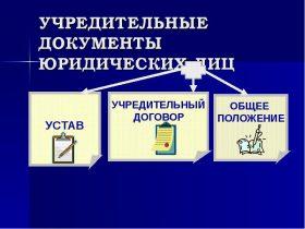 Учредительные документы юридических лиц