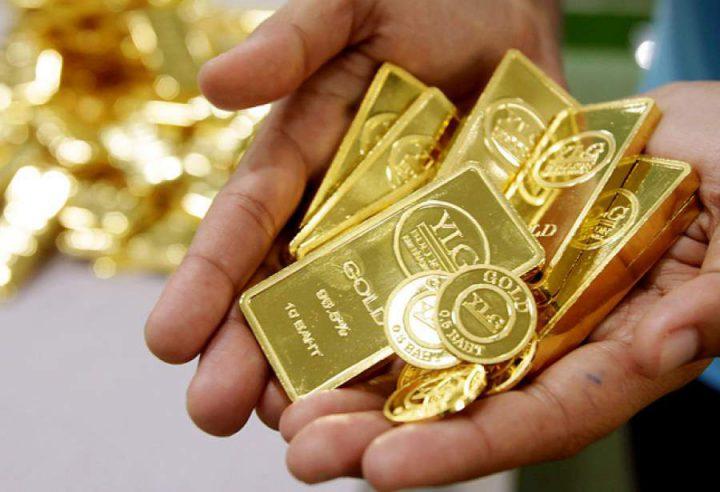 Золотые слитки и монеты