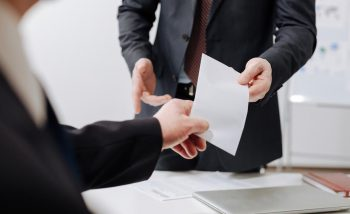 Расписка о предоставлении документов